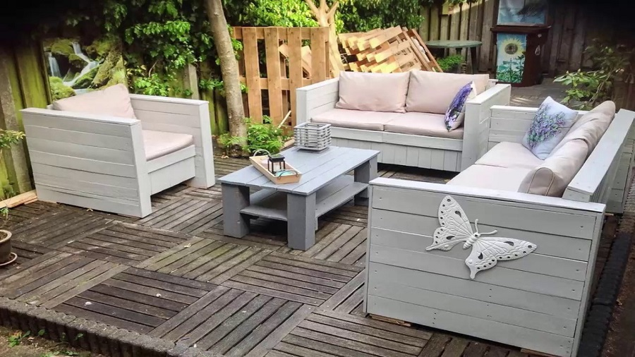 furniture with recycled material