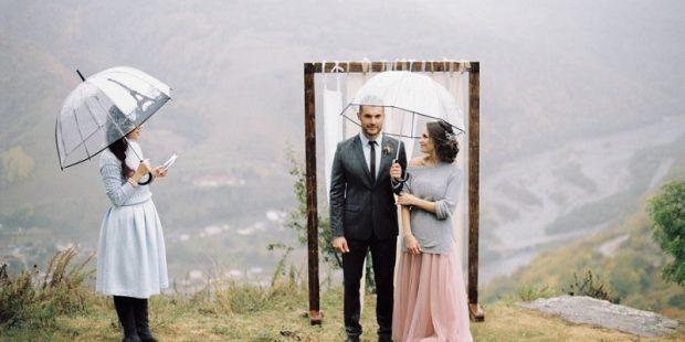 Wedding rainy fall: 7 tips to avoid disaster